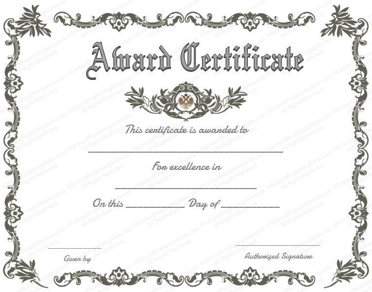 Doc550412 Winner Certificate Template Free Winner Certificate – First Place Award Certificate