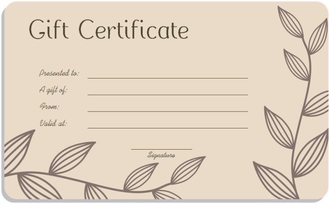 Doc578248 Editable Gift Certificate Template Free Gift – Editable Gift Certificate Template