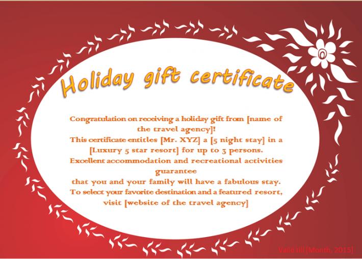 Free Certificates Gift Certificates