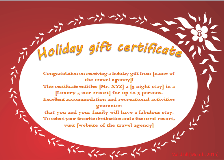 Holiday Gift Certificate Templates. 1000 ideas about gift ...