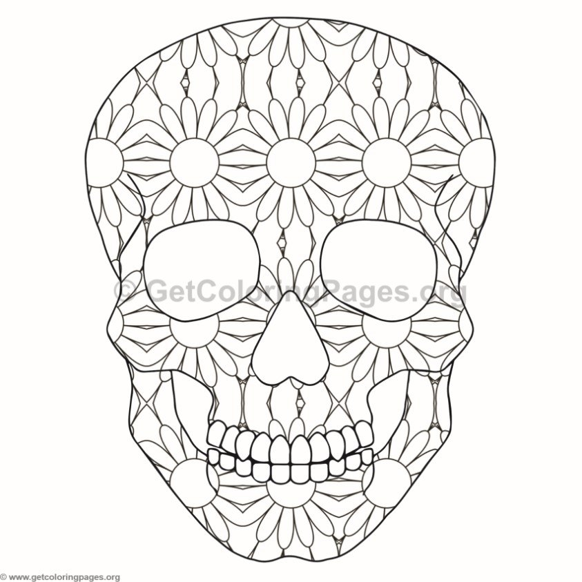 Skull Coloring Pages 2