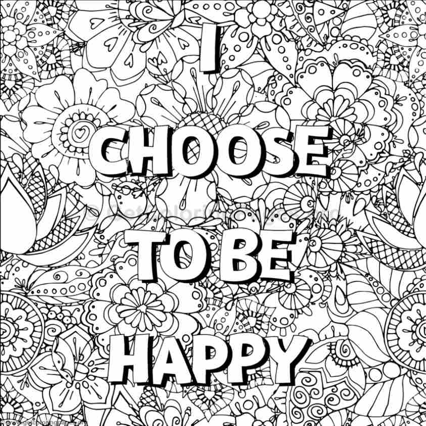 Inspirational Word Coloring Pages #1 – GetColoringPages.org | free printable coloring pages for adults inspirational quotes