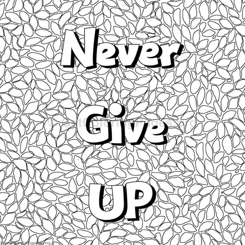 Inspirational Word Coloring Pages 13