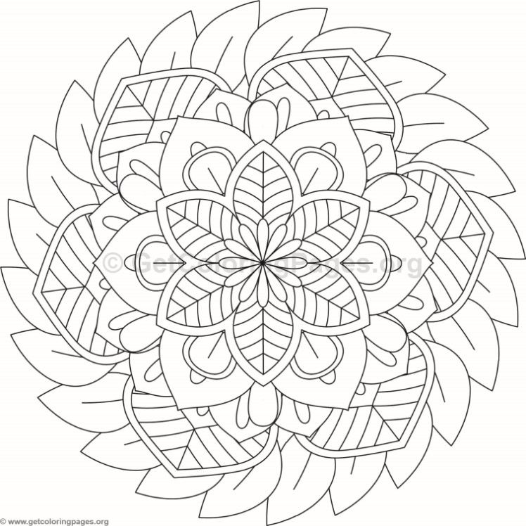 Flower Mandala Coloring Pages 92