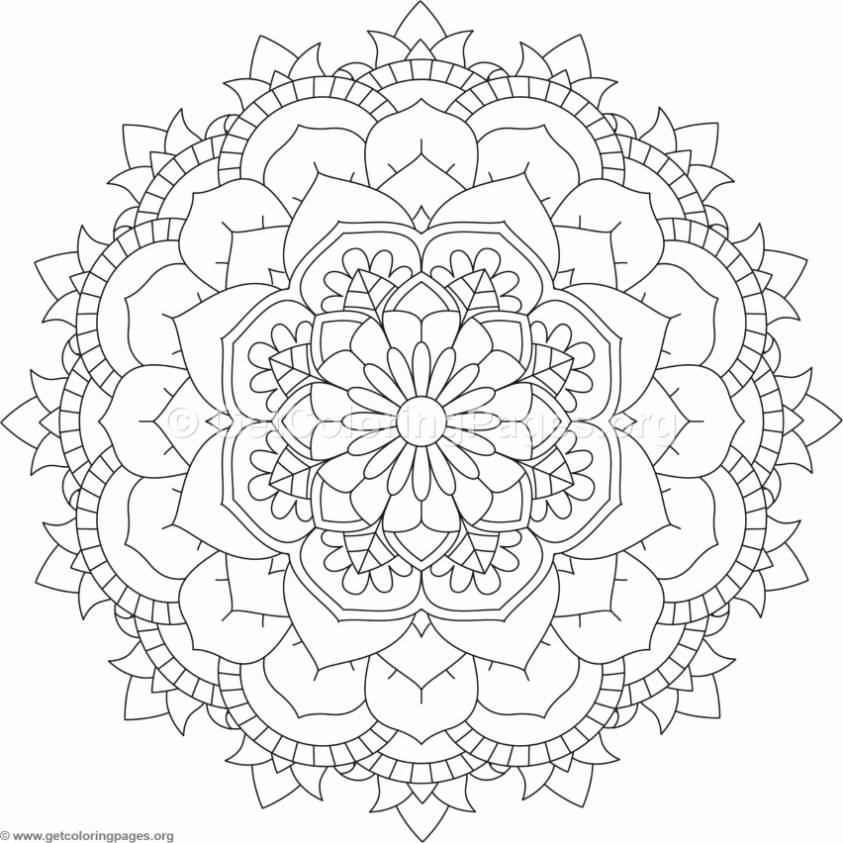 Flower Mandala Coloring Pages 292