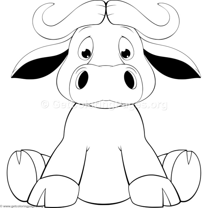 Cartoon Calf Coloring Pages