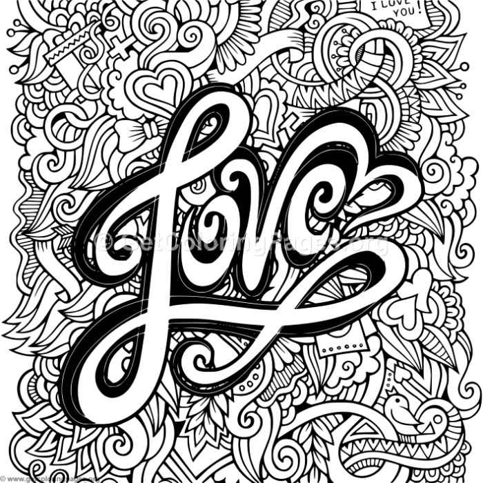 Love Zentangle Art 2 Coloring Pages