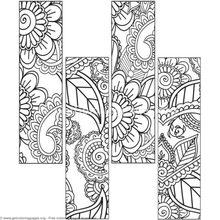 12 floral bookmark coloring pages – getcoloringpages
