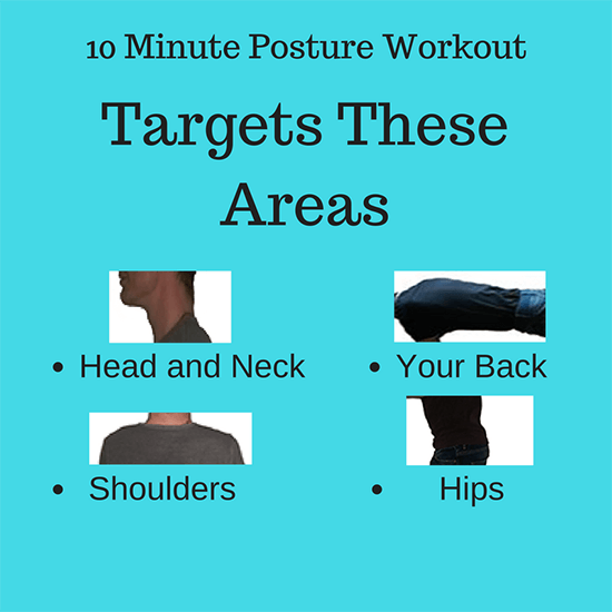 10 Minute Posture Workout Targets: Head and Neck, Shoulders, Back and Hips
