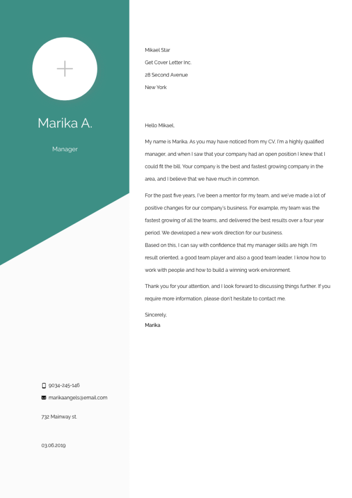 Customer Service Manager Cover Letter Example Writing Tips Free 2021