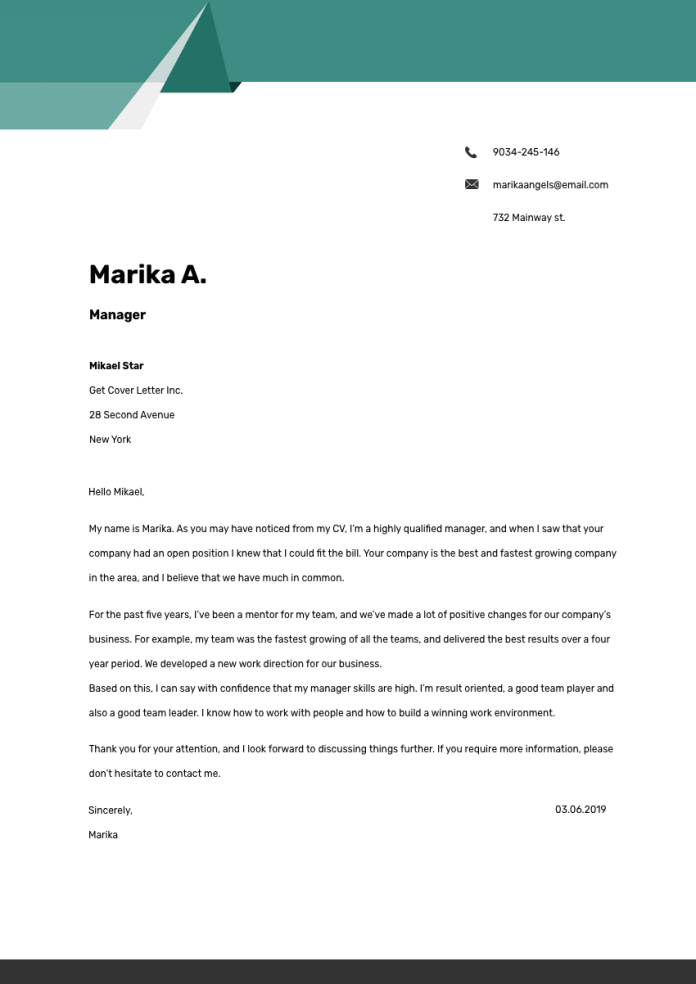 Interior Designer Cover Letter Example Writing Tips Free 2021
