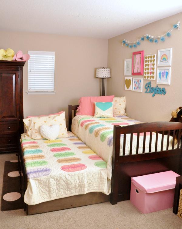 Pink Teal Macaron Amp Heart Themed Girls Room Ideas Creative Juice