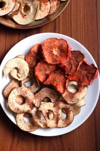 Dried fruit rings are a super easy, hands off snack recipe. Perfect for when you are on-the-go or entertaining. Try sprinkling them with the different spice combos provided and pairing them with a little jam and brie!