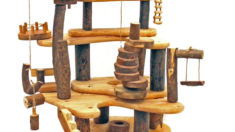 Tree blocks tree house is a sustainable, eco friendly toy made of natural wood.