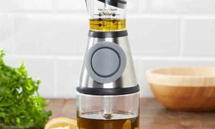 The Smart Kitchen Press Measure Vinegar & Oil Bottle