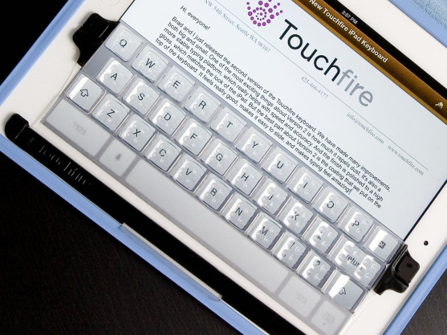 Touchfire Screen-Top Keyboard for iPad