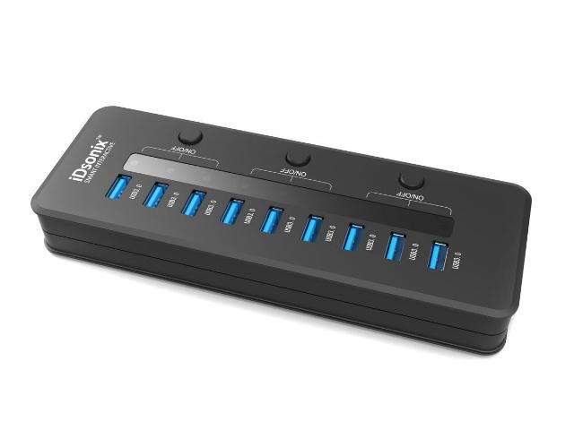 iDsonix USB 3.0 10 Port Hub