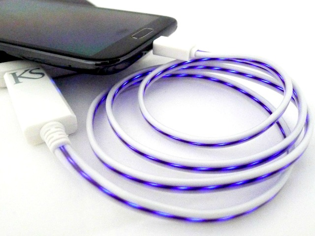 Micro USB EL Glow Data and Charge Cable