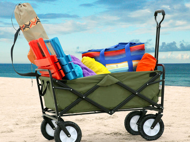 Mac Sports Collapsible Wagon Hauls Your Beach Gear