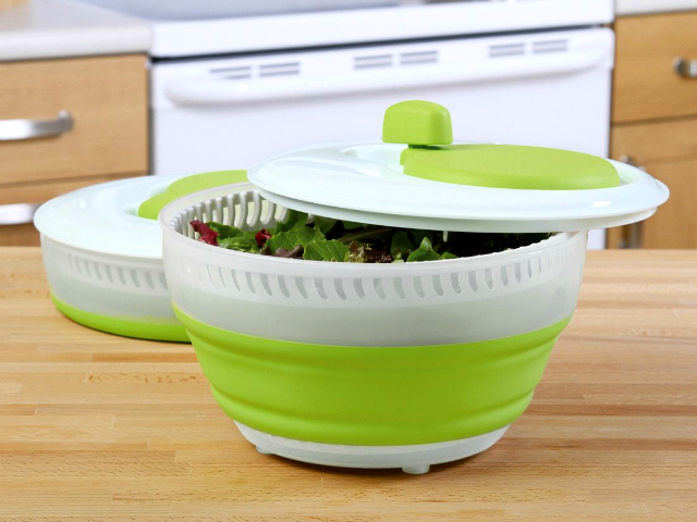Save Space with Progressive Collapsible Salad Spinner