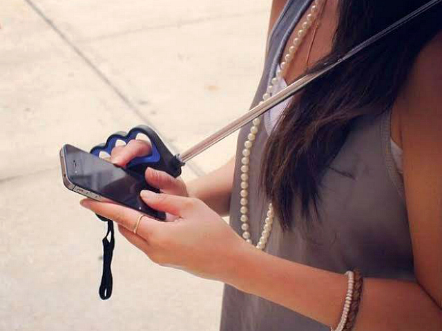 Stay Dry While Texting with Brolly Texting Umbrella