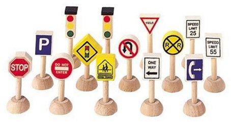 Plan Toys Set of Traffic Signs