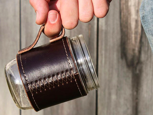 Holdster Leather Canning Jar Travel Mug – Upcycle your Mason Jar