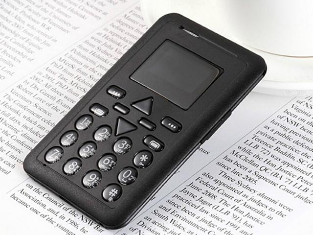 HomeGo Credit Card Size Cell Phone that Fits in a Wallet