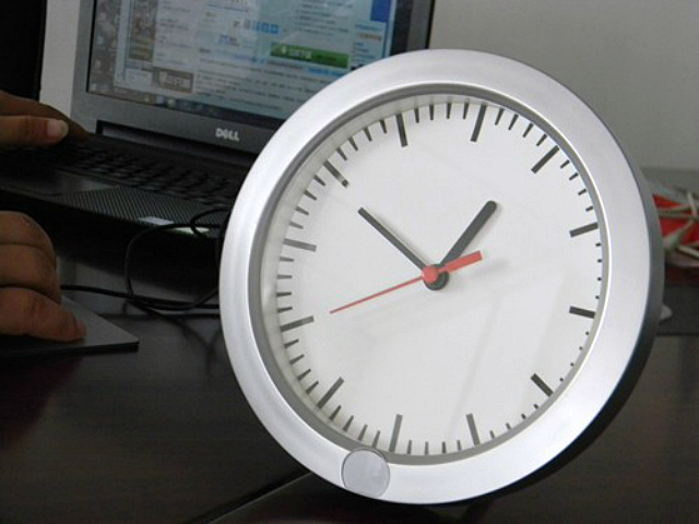 Wall and Table Hidden Camera Clock