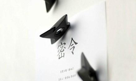 Be a Ninja with the Black Ninja Shuriken Magnet
