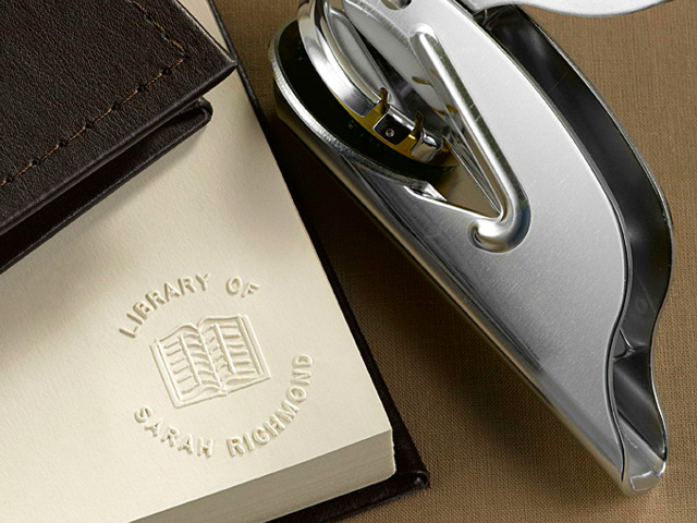 Personal Library Book Embosser