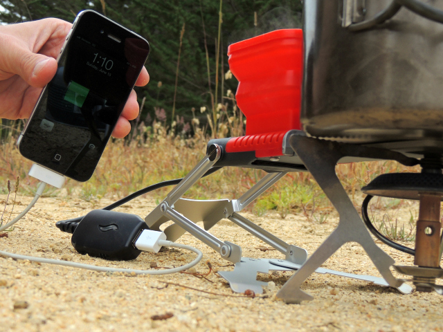 Fire Up your Phone with the FlameStower Charger