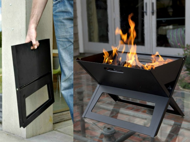 Notebook Charcoal Grill Folds Flat for Easy Carry