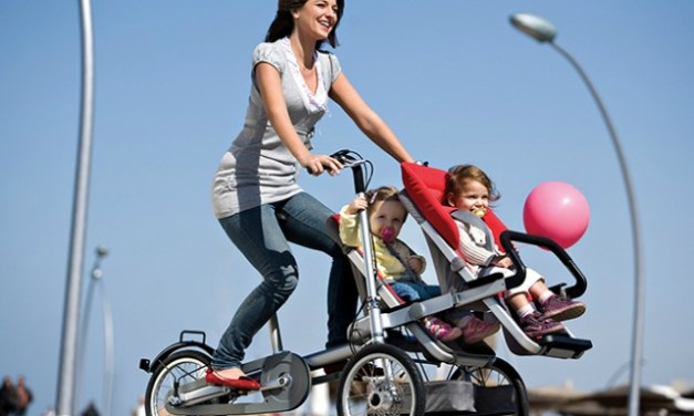 Taga Transforms from Bike to Stroller in 20 Secs