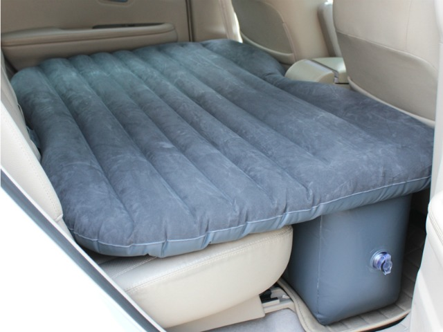 Inflatable Car Airbed Turns Backseat into Comfortable Bed