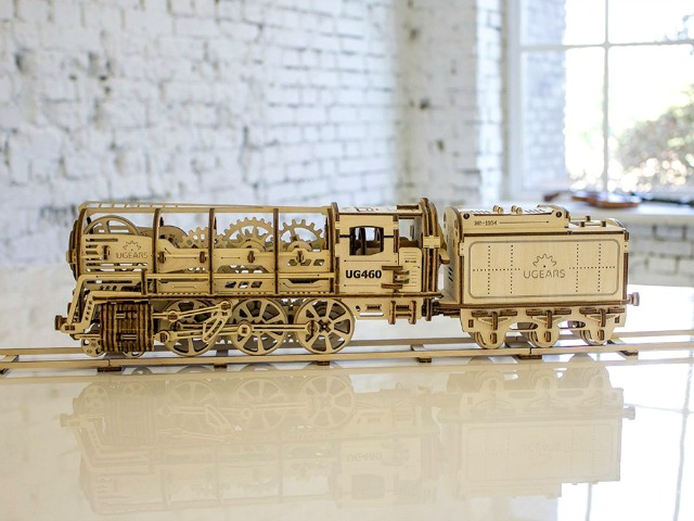 Self-Assembled, Self-Propelled, UGEARS 460 Locomotive