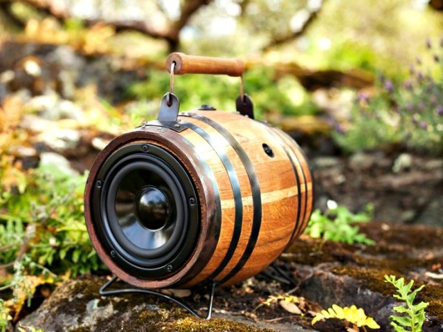 Boomcase Barrel: Portable Sound System in a Vintage Barrel
