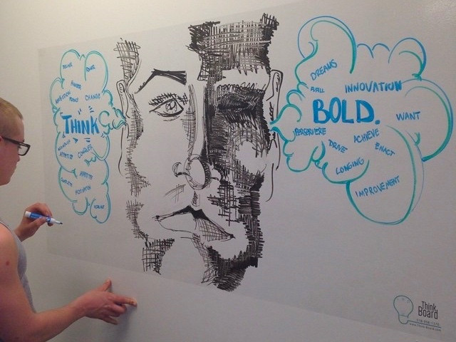 Think Board Turns Any Surface into a Dry-Erase Surface