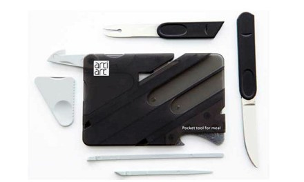 Artiart Cutlery Card Packs 7 Eating Utensils in Credit Card Sized Tool
