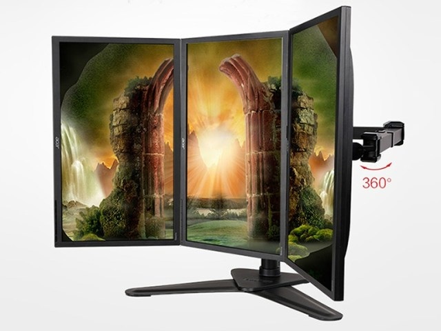 Ultimate Gaming Experience and Get More Work Done with LOCTEK 3-LCD Monitor Stand
