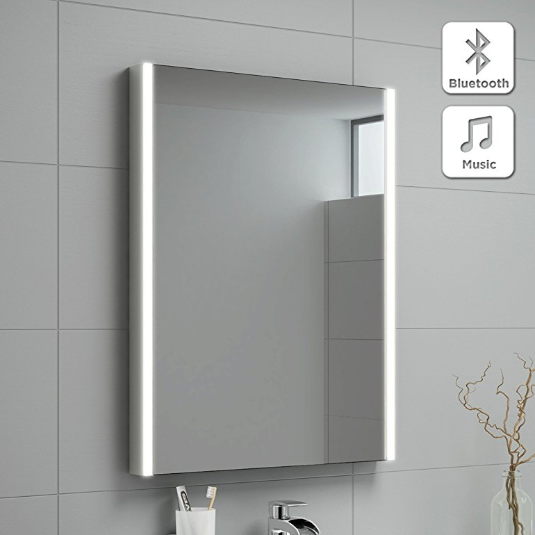 Bluetooth Led Bathroom Mirror Brightens Up Your Day Getdatgadget