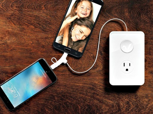 RABBITcharger Converts Duplex Outlet into USB Charger