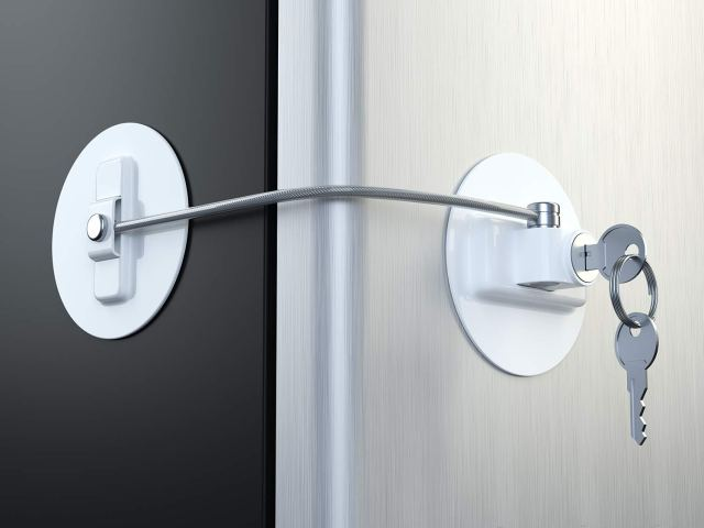 Refrigerator Door Lock Restricts Access to the Fridge