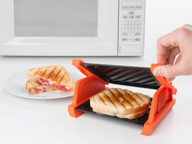 Microwave Sandwich Maker: Make Grilled Cheese Sandwich