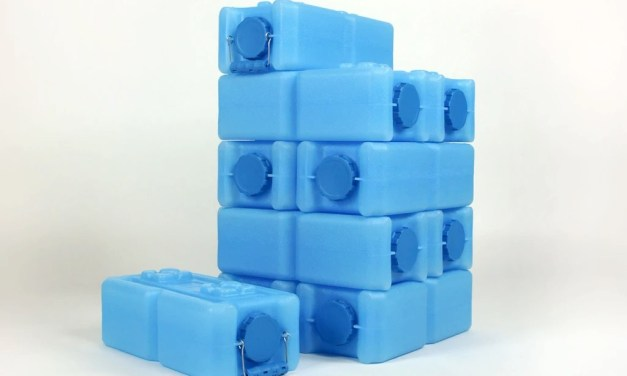 WaterBrick: Stackable Emergency Water and Food Storage Container