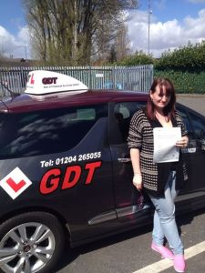 Jenny passes driving test first time at Bolton test centre