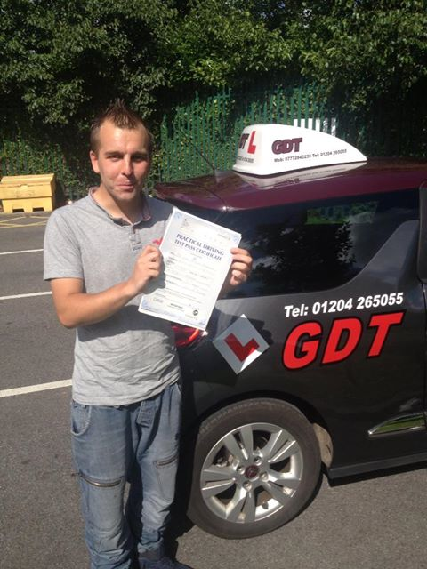 Lee passes driving test in Bolton