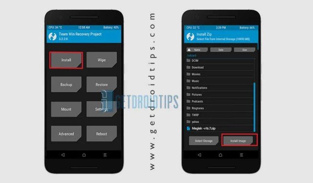 Install Image using TWRP