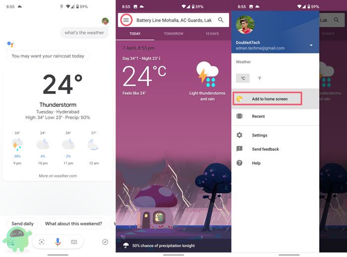 скачай приложение погоды Google на свой телефон