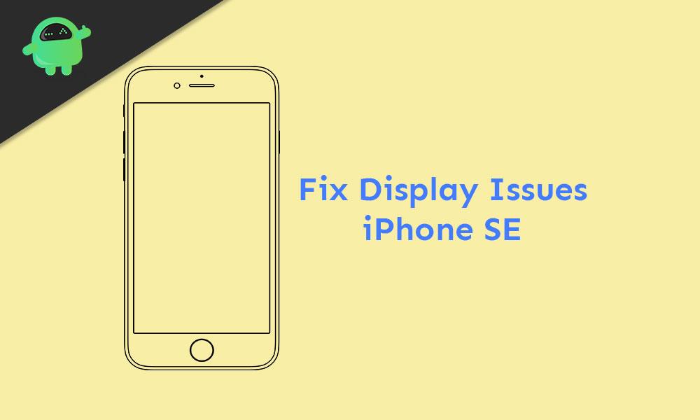Все типы проблем с дисплеем на iPhone SE